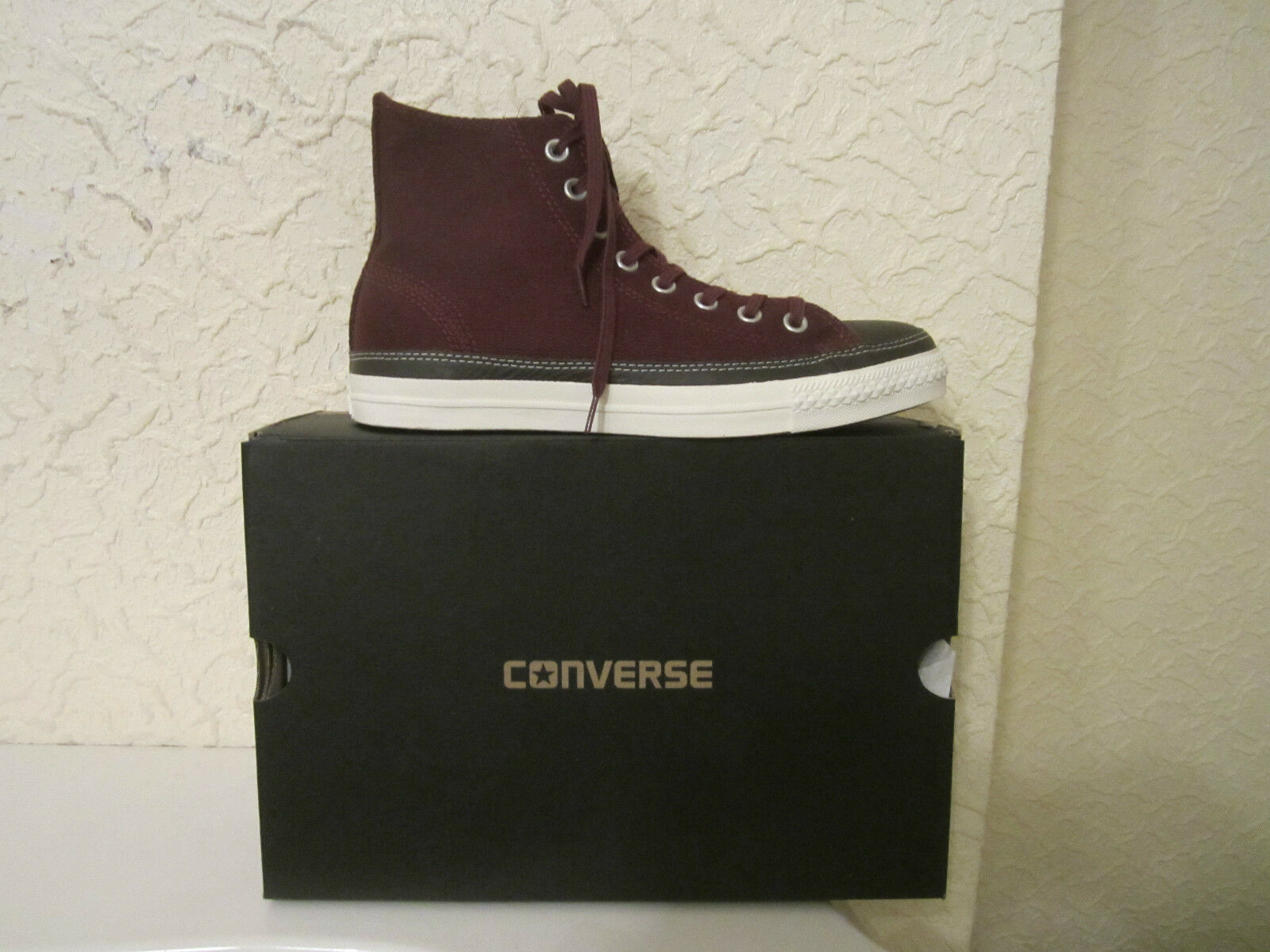 Converse All Star High High Top Canvas Leder Trimming High Star Top Sneakers 13f584