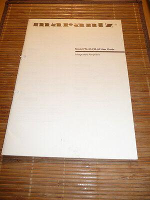 Anleitungen & Schaltbilder Süß GehäRtet Owner's Manual Für Marantz Pm-30/pm-40 Amplifier,original Up-To-Date-Styling