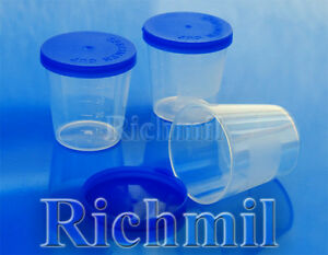 10x-40ml-Plastic-Specimen-Sample-Jar-Craft-Container-Pot-Cup-with-Lid