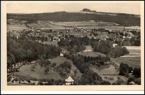 Bad-Berka-Thueringen-DDR-Postkarte-Gesamtansicht-ungelaufene-Karte-50-60er-Jahre