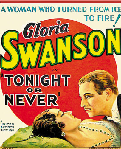 1931 Gloria Swanson movie poster print Tonight or Never