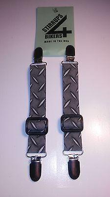 "6/"" Adjustable Pant Bungee Boot W//Heavy Duty Stirrups Clips /& POW//MIA Logo"