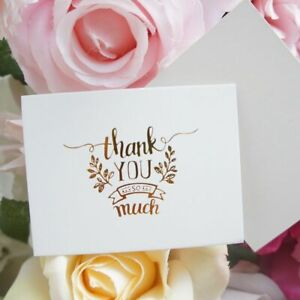 Details About Thank You Invitation Card Single Page Type 50 Pcs Lot Special Event Paper Supply