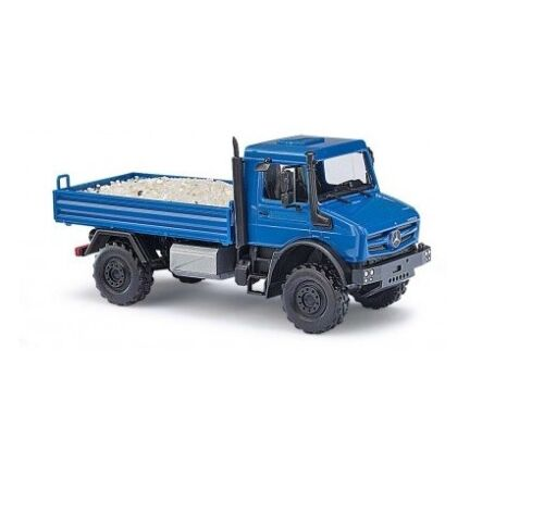 Busch 51018-1//87 H0 Mercedes-Benz Unimog U5023 Mit Beladung Sand Neu