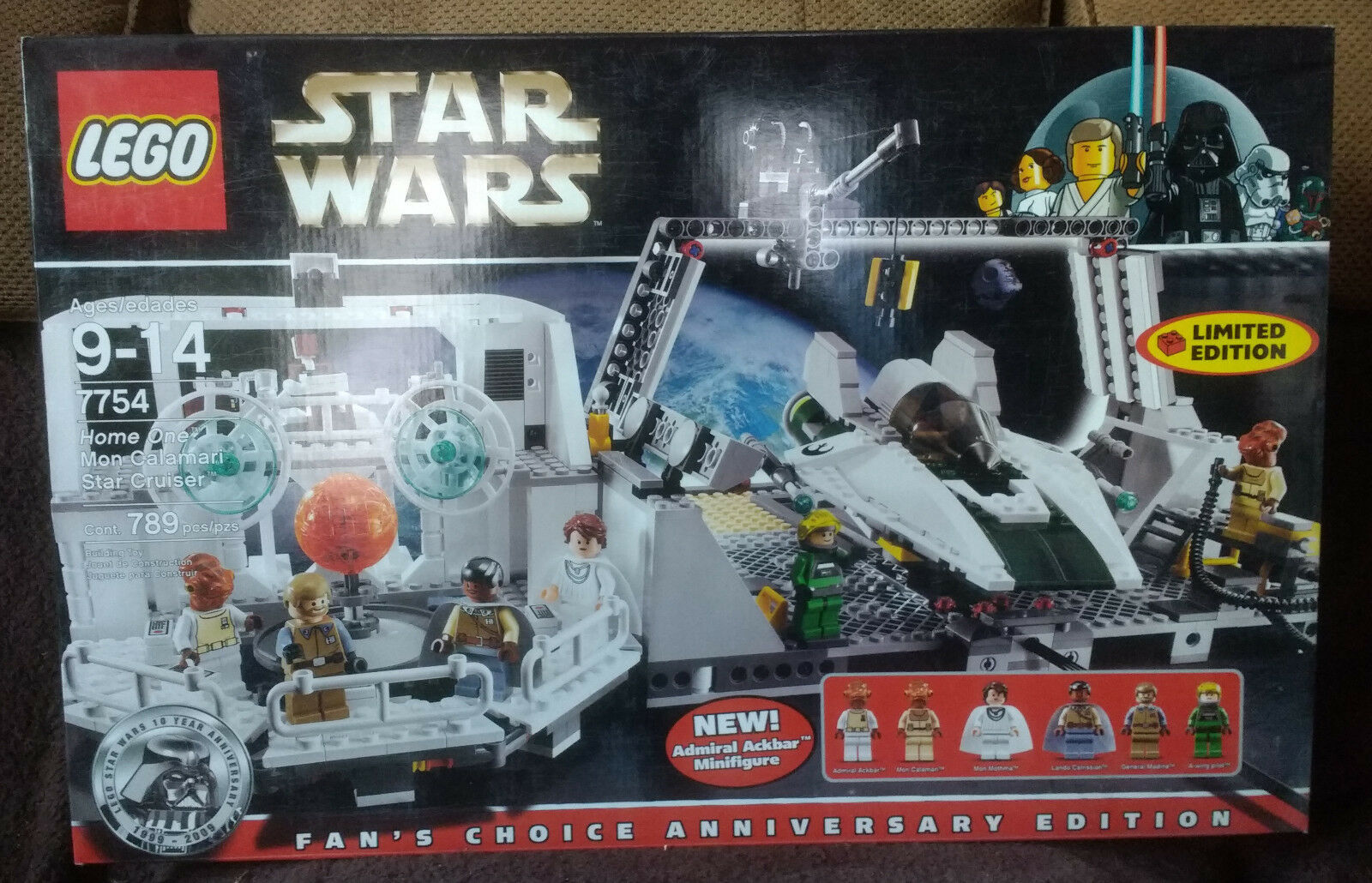 LEGO Star Wars Home One Mon Calamari Star Cruiser (7754) New MISB