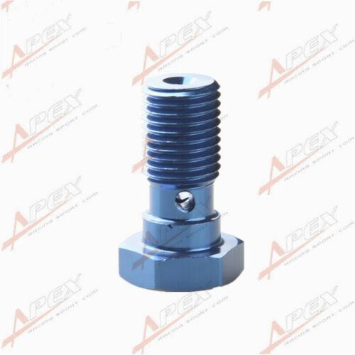 Tornillo de sumersión de aleación de aluminio 7//16-20UNF UNF Adaptador De Freno Banjo Pernos azul