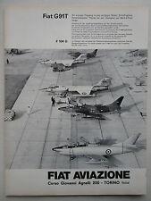 4/63 PUB FIAT AVIAZIONE FIAT G.91 T F-104 LUFTWAFFE ITALIAN AIR FORCE GERMAN AD