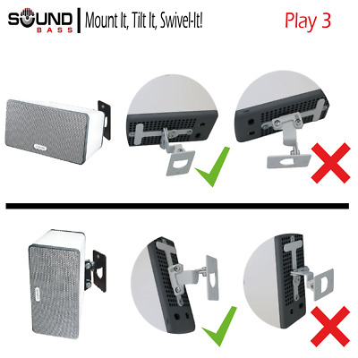 Allcam SP3W Wall Mount for SONOS PLAY 3 White