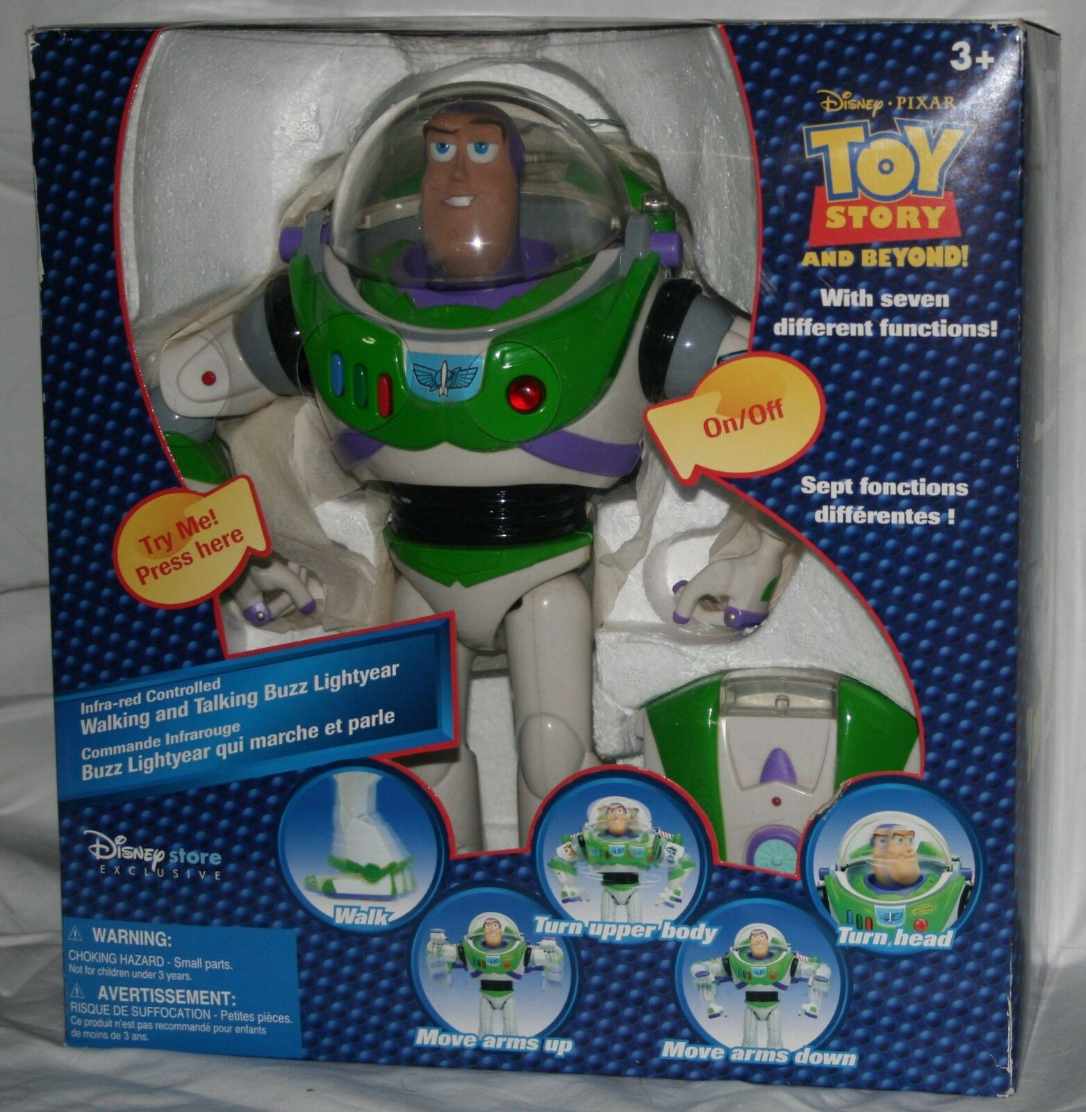 Toy Story and Beyond Buzz Lightyear walking and talking infra-ROT controlled