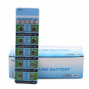 10Pc-Set-AG13-1-55V-357A-LR44W-Button-Cell-Coin-Battery-Electronics-Accessories