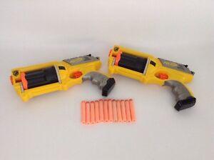 Image is loading LOT-of-2-Hasbro-Nerf-Guns-Maverick-Rev-