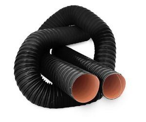 "80mm 3.15/"" Silicone 2 Ply Black 2 Metre Air Ducting Flexible Duct Cold /& Hot"