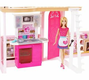 Barbie Kitchen Kit With Sink Oven For Home Set Kids Girls 1ft