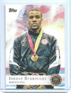 2012-TOPPS-OLYMPIC-JORDAN-BURROUGHS-034-GOLD-034-WRESTLING-CARD-85-MULTIPLES