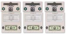 2015 $2 Single Note Collection 3 Bank Notes San Francisco, Dallas, New York