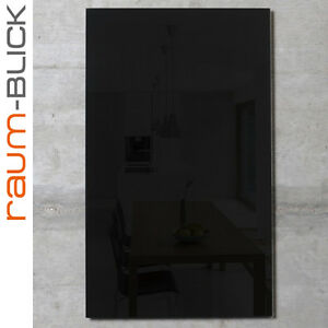 raum blick glas magnettafel max 80x50 cm schwarz magnetwand magnetboard ebay. Black Bedroom Furniture Sets. Home Design Ideas