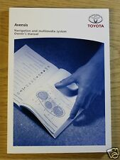 TOYOTA AVENSIS MULTIMEDIA NAVIGATION SYSTEM OWNERS MANUAL GUIDE BOOK 14656