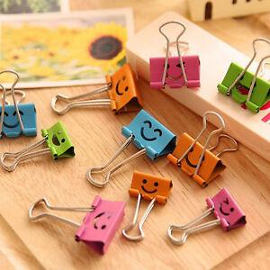 8pcs-lot-Sweet-Candy-Color-Smile-Face-Metal-Binder-Clips-Notes-Letter-Paper-Clip