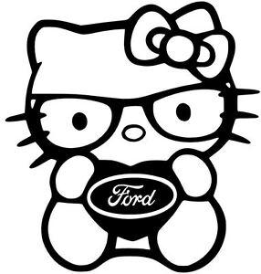 FORD-DECAL-HELLO-KITTY-Truck-Car-Vinyl-Window-Sticker