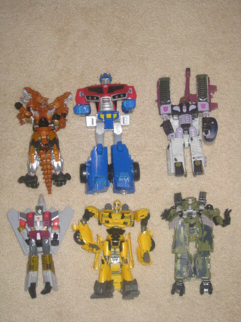TRANSFORMERS LOT OF SIX FIGURES OPTIMUS PRIME BUMBLEBEE, ECT