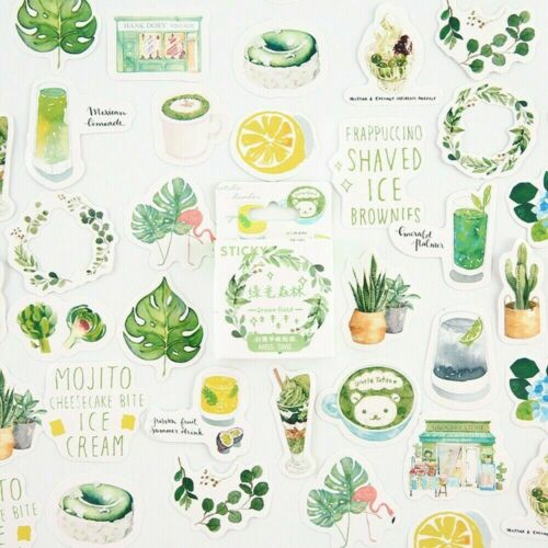 46PCS//Pack Stationery Stickers Scrapbooking DIY Boxed Diary Label Sticker SHP