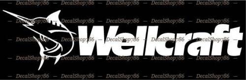 Sports Wellcraft Boats Car//SUV//Truck Vinyl Die-Cut Peel N/' Stick Decals
