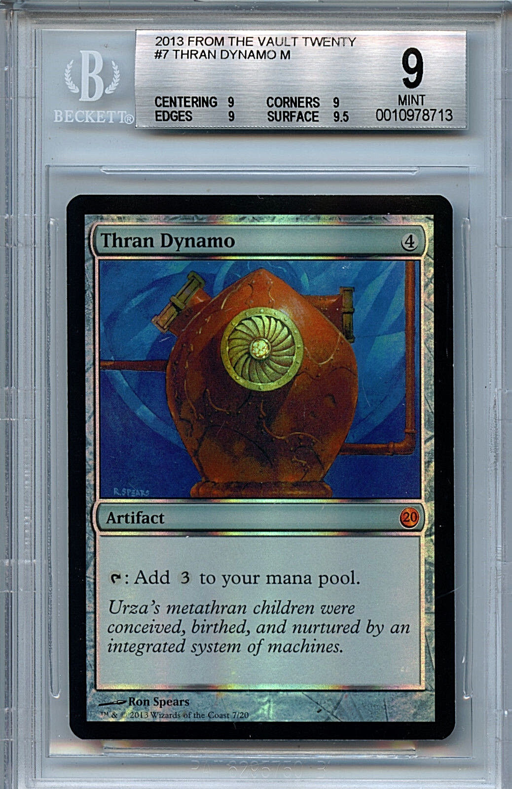 Mtg thran dynamo bgs 9,0 (9) - ftv zwanzig magie mystische folie amricons 8713