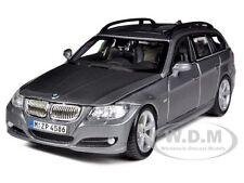 BMW 3 SERIES TOURING WAGON GREY 1:24 DIECAST MODEL CAR BY BBURAGO 22116