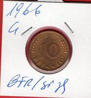 10 PF  1966 G BFR/stgl  ab 5 auktionen  portofrei