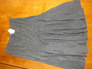 New Ex-BHS Ladies Mid Blue 100% Cotton A Line Denim Skirt size 12 ...