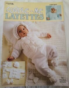 Cuddle-Me-LAYETTES-Crochet-Pattern-Booklet-Leisure-Arts-3-Baby-Designs