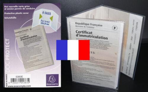 protection plastique pour CARTE GRISE Protege housse pochette étuis de FRANCE