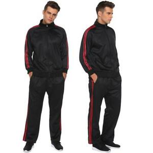 Men-Full-Zip-Track-Suit-Set-Long-Sleeve-Jacke-Long-Pants-Running-B98B
