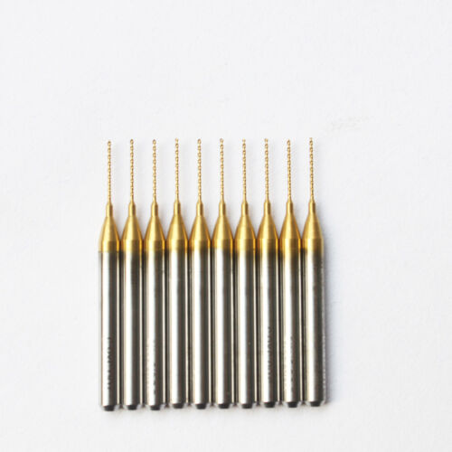 "5PCS  0.6mm Titanium Coated 1//8/"" Carbide Micro Drill Bits CNC PCB end mill New"