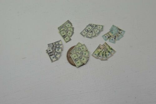 Miniature Play Money in 1:12 Doll scale US Currency