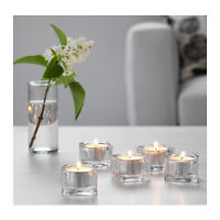 IKEA GLASIG Glass Tea Light Holder Party Candle Holders Wedding Tealight 38mm