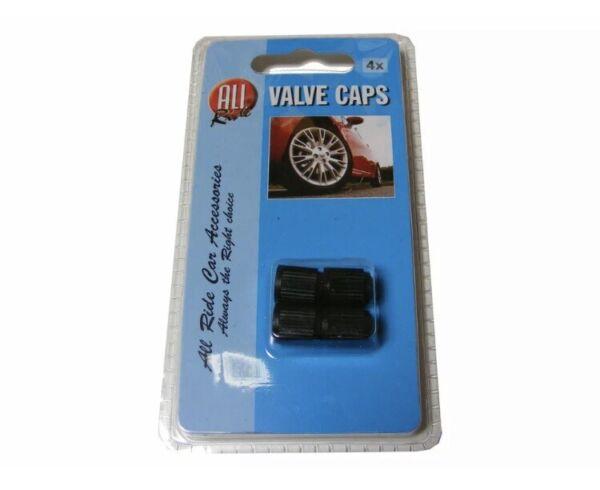 2 X 4 Valve Caps Black Wheel Rim Tire Cover 4x Car Van Bike Dust Caps 36476
