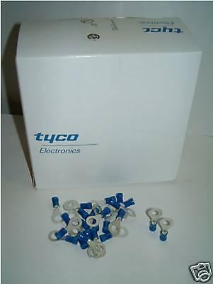 1000 x Qualità TE AMP Blu Anello PLAST-Grip crimpare connettori 34162 m6 14-16awg