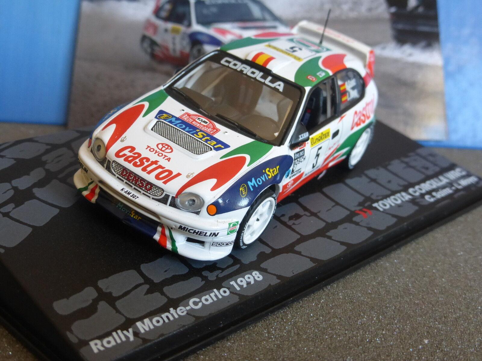 TOYOTA TOYOTA TOYOTA CgoldLLA WRC RALLYE MONTE CARLO 1998 SAINZ MOYA 1 43 CASTROL MOVISTAR bc99d8