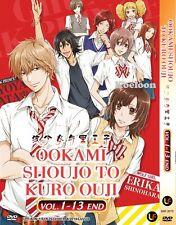 DVD Japan Anime OOKAMI SHOUJO TO KURO OUJI Complete TV Series (1-13) Eng Sub