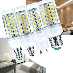 Dimmable-LED-Corn-Light-Bulb-6W-30W-E27-E26-E12-E14-G9-GU10-5730-SMD-White-Lamp