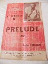 Partition Un solo Saxo mi b F Basso Prélude Yvon Tristan