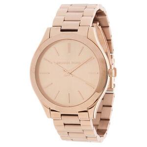 b55f2505e4a9 NEW Authentic Michael Kors Slim Runway Rose Gold Tone Women s Watch ...