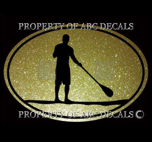 VRS OVAL A SUP STAND UP PADDLE BOARD GUY METAL CAR DECAL STICKER