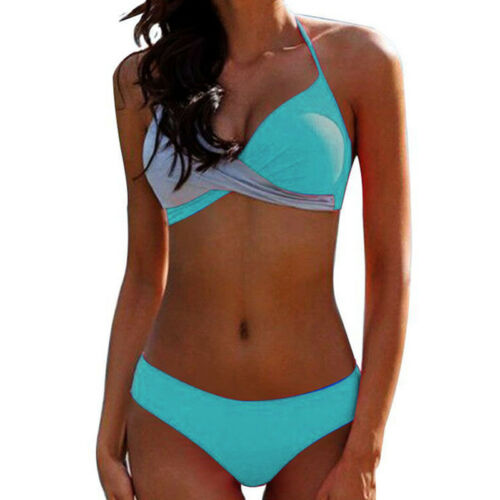 New Women Swimsuit Bikini Set Push-up Bra Thong Swimwear Beachwear Bathing Suit
