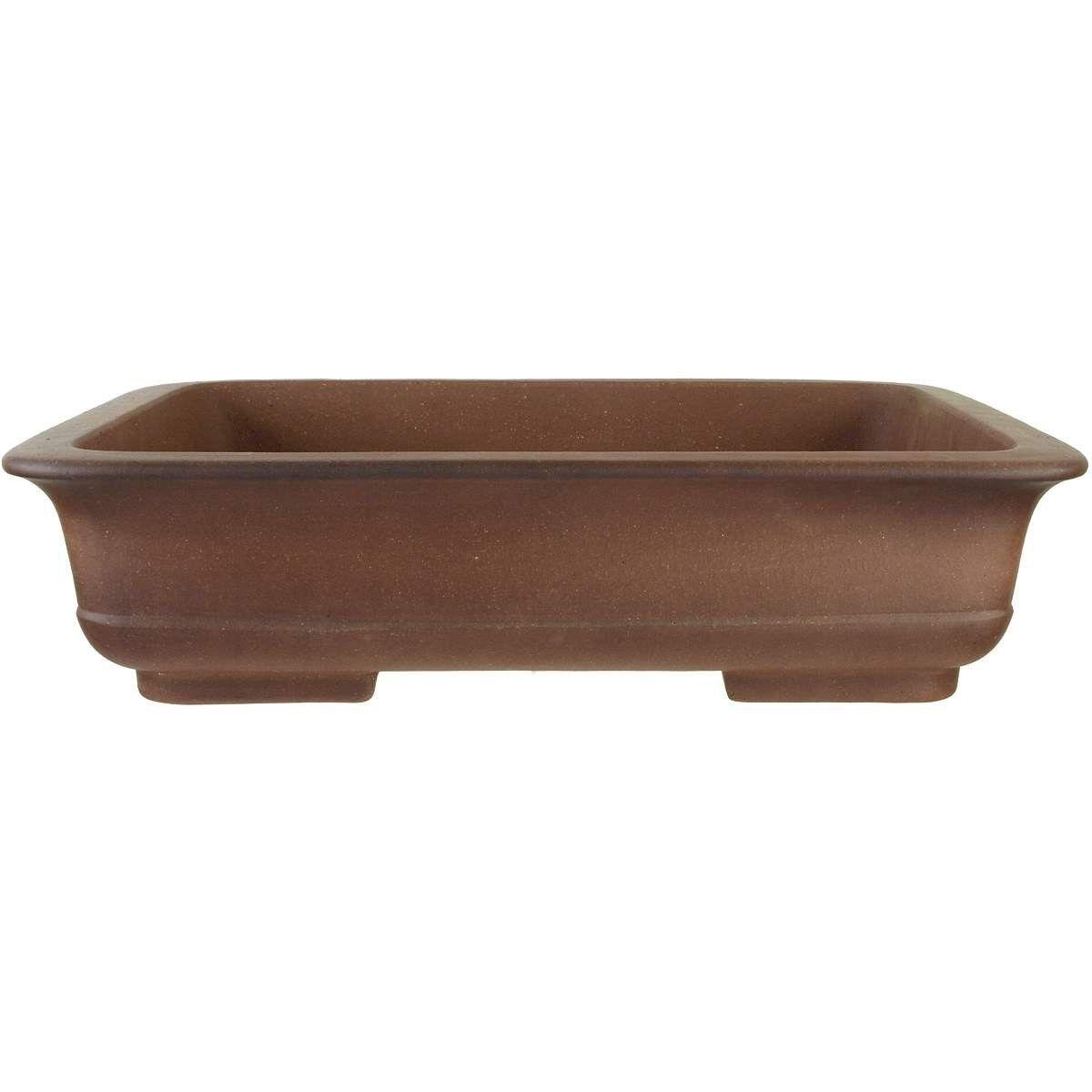 Bonsaischale 50.5x37.5x12.5cm Antik-marrón rectangular unglasiert h51159ab