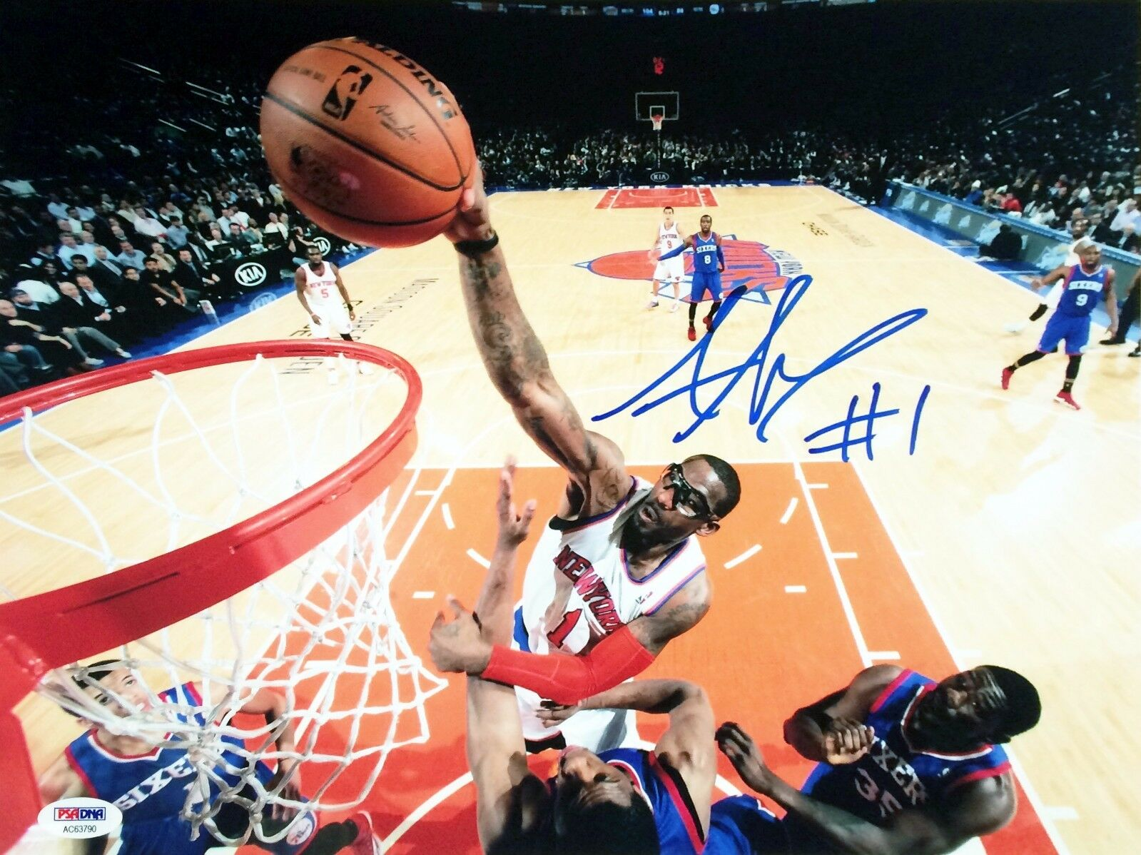 Amare Stoudemire New York Knicks Signed 11x14 photo PSA/DNA Cert # AC 63790