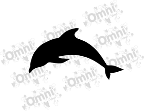 6 dolphin silhouette vinyl wall sticker decals for