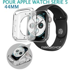Coque-protection-transparent-souple-silicone-gel-apple-watch-serie-5-44MM
