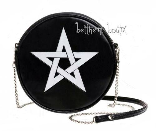 Pentagramme Bandoulière Sac Noir Alchemy Pentagram Blanc Goth Gothique Rond xU7RRq